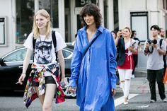 Street style à la Fashion Week printemps-été 2017 de New York Mica Arganarza…