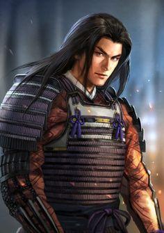 Fantasy Male, Fantasy Heroes, Fantasy Characters, Character Portraits, Character Art, Kabuto Samurai, Nobunaga's Ambition, The Last Samurai, Samurai Artwork