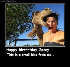 a big kiss for Jenny