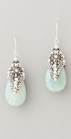 Miguel Ases Amazonite & Crystal Drop Earrings