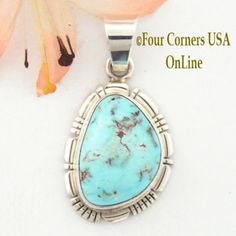 Four Corners USA Online - Dry Creek Turquoise Sterling Pendant by Robert Concho Native American Silver Jewelry NAP-1494, $125.00 (http://stores.fourcornersusaonline.com/dry-creek-turquoise-sterling-pendant-by-robert-concho-native-american-silver-jewelry-nap-1494/)