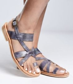 b87239d8b22 Manati Smoke Blue - Ultimate Comfort Vegetable Tanned Leather Sandal BED