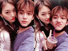 they soo cute together Kpop Couples, Cute Couples, Nct 127 Members, Kim Doyeon, Bts Aesthetic Pictures, Lucas Nct, Korean Couple, N Girls, Ulzzang Boy