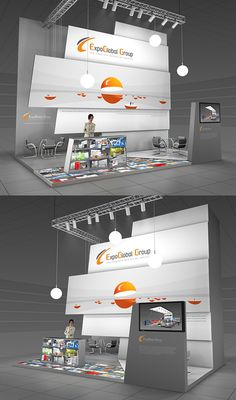 Expo Global Group exhibition stand on Behance