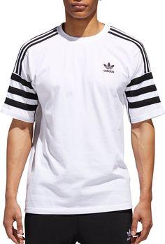 adidas Originals Men's Authentics T-Shirt, Size: XXL, White Adidas Retro, Camisa Polo, Adidas Outfit, Kids Fashion Boy, Adidas Originals Mens, Adidas Men, Tank Man, Cool Outfits, Stripes