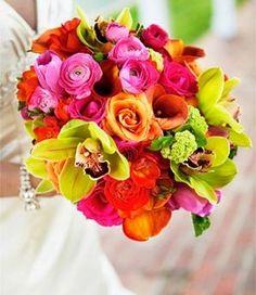 Bouquet mariée tropical