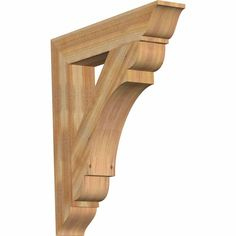 Ekena Millwork 6 in. x 40 in. x 28 in. Western Red Cedar Olympic Traditional Rough Sawn Bracket
