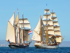 Oosterschelde & Europa, tall ships from the Netherlands