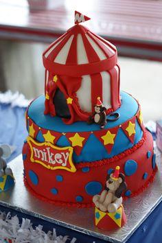 Mikey's Circus/Carnival birthday cake.