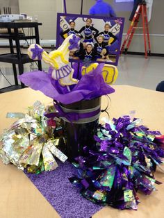 Cheer banquet centerpieces