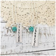 Thelma and Louise necklace best friends by gabigabiheyshop on Etsy