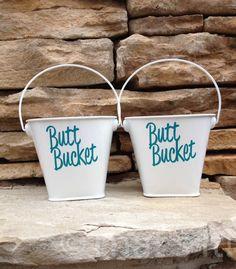 Small butt bucket, set of 2 ashtrays, metal ashtray, outdoor ashtray, cigarette holder, beach ashtray, hostess gift, beach house decor