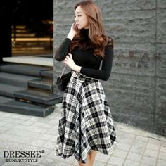 Buy 'DRESSEE – Patterned A-Line Midi Skirt ' with Free International Shipping at YesStyle.com. Browse and shop for thousands of Asian fashion items from South Korea and more!