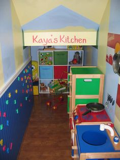 Playroom under the Stairs - We could totally do this in our house.