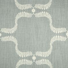 Up the Garden Path fabric in Duck Egg  -- grey and white foliage print by Vanessa Arbuthnott -- £48 per metre