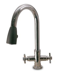 Pull-Down Kitchen Faucet with Two Cross Handles by Hamat