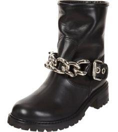 Giuseppe Zanotti Womens Biker Boots with Chain 2014