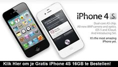 Aanbieding iPhone 4S 16GB Black Vodafone Abonnement