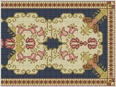 Big Rugs, Chart Design, Cross Stitch Patterns, Needlework, Vintage World Maps, Diy Crafts, My Love, Flowers, Embroidery