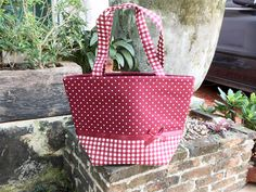 Classic Red Cherry Zip Closure Diaper Bag With White by Punyee