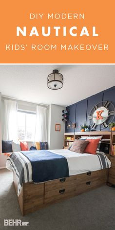 We can t get enough of this nautical kids bedroom makeover from Christina of The DIY Mommy Ch We can t get enough of this nautical kids bedroom makeover from Christina of The DIY Mommy Ch Luna Thompson davideowenswaffield nbsp hellip makeover diy