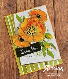 Stampin' Up! painted poppies - Stampin' Up! Poppy Cards, Stamping Up Cards, Up Girl, Flower Cards, Greeting Cards Handmade, Daffodils, Your Cards, 3d Cards, Making Ideas