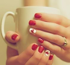 32 Mejores Imágenes De Uñas San Valentin Pretty Nails Cute Nails