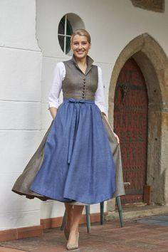 Tostmann Trachten: Dirndl classics - Women Dresses for Every Age! Folk Fashion, Denim Fashion, Fashion Tips, Drindl Dress, German Women, Medieval Fashion, Haute Couture Fashion, Cosplay Outfits, Fashion History