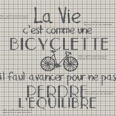Bonjour à tous et toutes !! Voici votre grille gratuite de la semaine... La vie c'est comme une bicyclette, que dire de plus??? A vous de voir si vous aimez la suite.... Cliquez ci-dessous pour récupérer le lien en PDF Pour rappel, mes grilles sont sous...