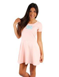 Vestido color rosa palo con lazo