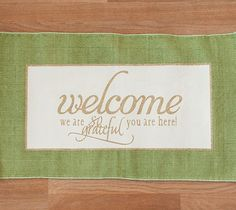 Grateful welcome mat. Make It Now in Cricut Design Space
