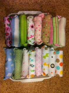 Receiving Blankets as Cloth Diapers