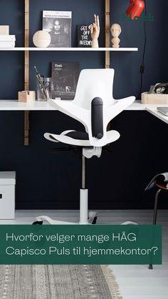 Hvor enn du jobber fra, sørger HÅG Capisco Puls for at kroppen din har det bra. HÅG Capisco Puls er en allsidig og lett kontorstol som passer rett inn i alle typer rom i hjemmet ditt. Stolen fremmer bevegelse og balanse, og kommer i flere farger slik den tilpasser seg deg – og dine omgivelser. Capisco Puls gir deg: - 10 års garanti - Aktiv sitte-teknologi som fremmer helse og velvære - Produsert i Norge Workspace Design, Home Office, Chair, Inspiration, Furniture, Home Decor, Heart Rate, Biblical Inspiration, Decoration Home