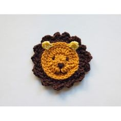 Lion Applique Crochet