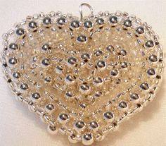 Beaded Heart in heart! Tutorial link! - JEWELRY AND TRINKETS