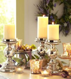 Mercury glass accents make stylish and classy gifts, Love Mercury glass : )
