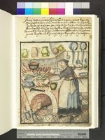 Anna the Cook, 1582. from Die Hausbucher der Nurnberger Zwolfbruderstiftungen  Amb. 317b.2° Folio 40 recto (Mendel II)