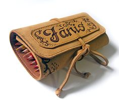 Leather pencil case Personalized pencil holder by erikasleather $52