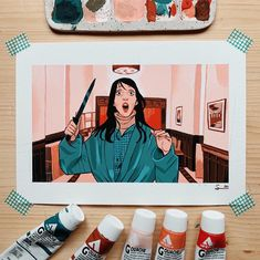 """Sibylline 🍊✨ on Twitter: """"The Shining 🔪❄️… """" Gouache Painting, Painting & Drawing, Watercolor Illustration, Watercolor Art, Art Sketches, Art Drawings, Arte Sketchbook, Amazing Drawings, Sketchbook Inspiration"""