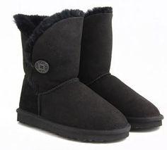 Black Bailey Button UGG Boots : Ugg Outlet, Ugg Outlet