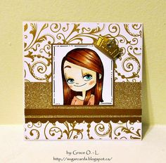 Grace O. Sugar Cards using Shy Mae #digi from www.someoddgirl.com #someoddgirlmae