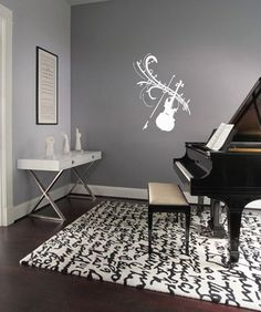 Vinyl Decal Stylized Violin Home Wall Art Decor Removable Stylish Sticker Mural L317 Unique Design  Any Room on Etsy, $22.99
