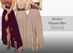 Simply King: Desiree Elegant Skirt • Sims 4 Downloads