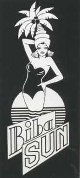 Biba sun was the logo to be used on bottles of oils and lotions for the holiday skin-care range.