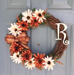 Stop by and see this wreath in our collection at WallflowersbyKerri.etsy.com