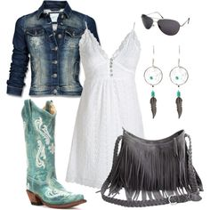 Grey and Teal Country Girl outfit- must have this set!
