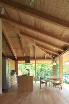 gable roof or hip roof for main form? Modern Japanese Interior, Zen House, Pole Barn House Plans, Modern Rustic Homes, House Landscape, Japanese House, Minimalist Interior, Modern Buildings, House In The Woods