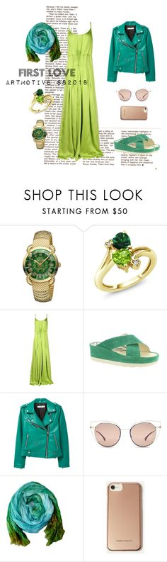 """First love#2"" by artmotivepainting ❤ liked on Polyvore featuring Roberto Cavalli, Dsquared2, Fly LONDON, MANGO, Fendi and Karen Millen"