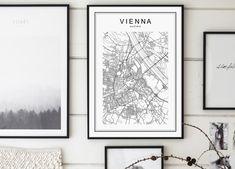 Vienna Map Print Vienna City Wien Österreich by GalaDigitalPrints