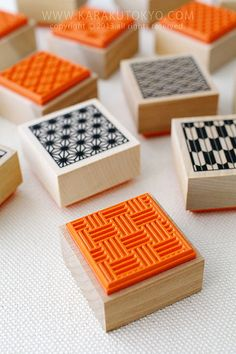 Stamp of a traditional Japanese design (rubber stamps)